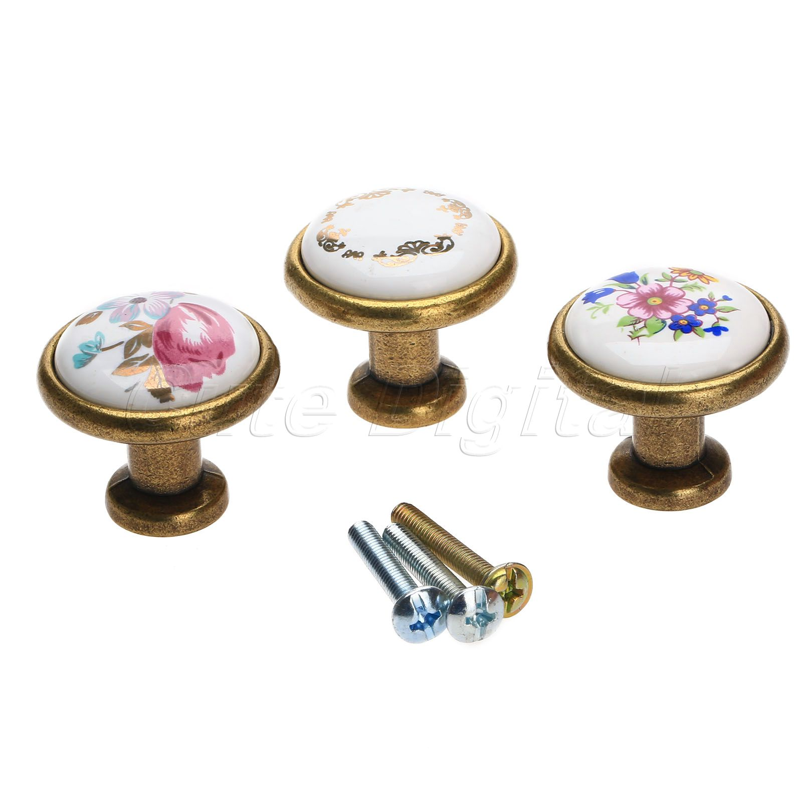 Antique Brass Kitchen Door Knob Furniture Drawer Knob