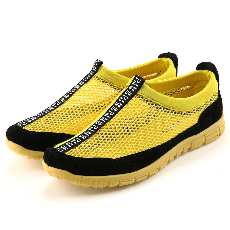 2015 Latest Mens Loafers Shoes Breathable & Light Weight Flat Shoes Fashion Soft Mesh Beach Shoes Mens Casual Loafers