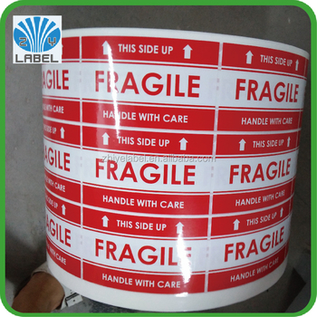 red urgent and fragile shipping mark self adhesive label buy