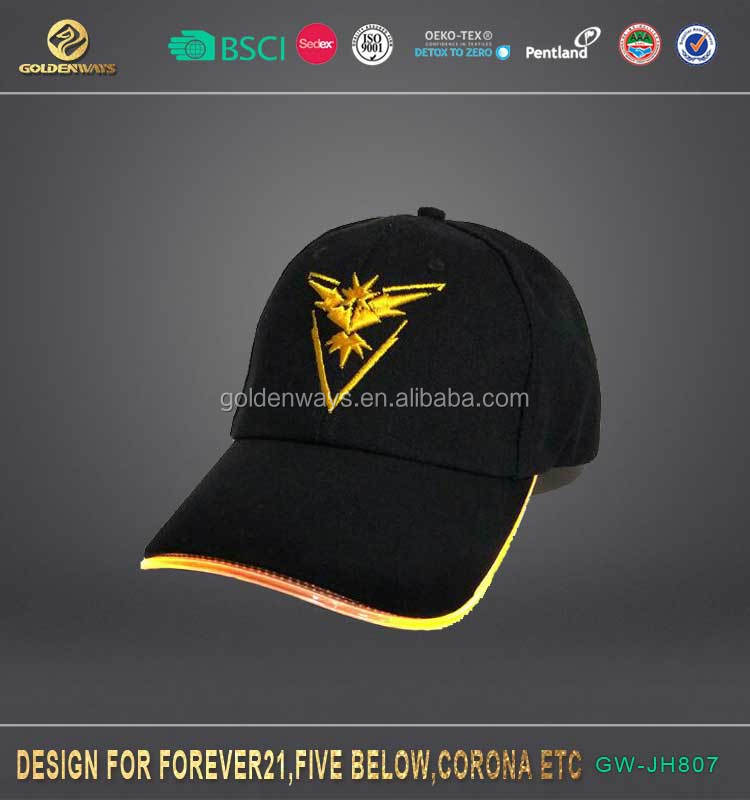 2017 new LED light instinct pokemon baseball cap unisex glow in the dark