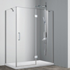 large clear doors stainless steel support bar shower enclosures for bathroom