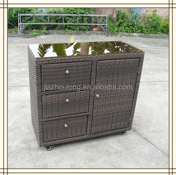 3 schublade grau rattan outdoor schrank a804 andere metallm bel produkt id 1575818927 german. Black Bedroom Furniture Sets. Home Design Ideas