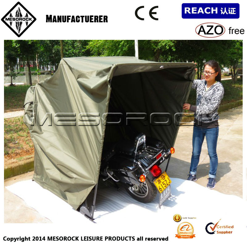 Hard Covered Bike Shelters : Outdoor shelter motorcycle cover garage hard