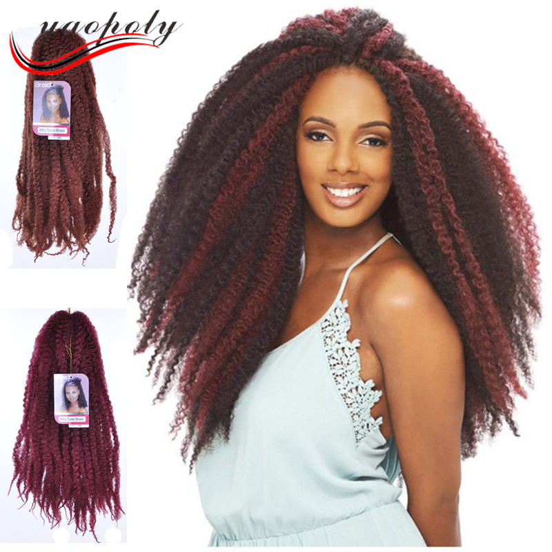China Supplier Senegalese Twist Hair Afro Kinky Curl Braids Marley