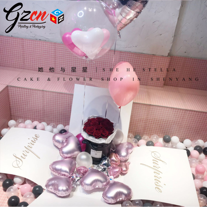 China custom wholesale cardboard box for balloon or surprise balloon gift box