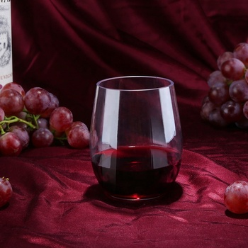 FDA Stamped Plastic Printable Unbreakable Wine Glasses that look like real glasses