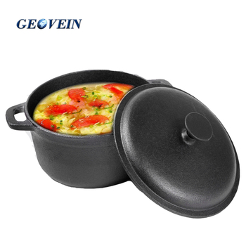Gift for Wife Matte Black Enamel Cookware Set Stew Pot Cast iron Casserole with Lid