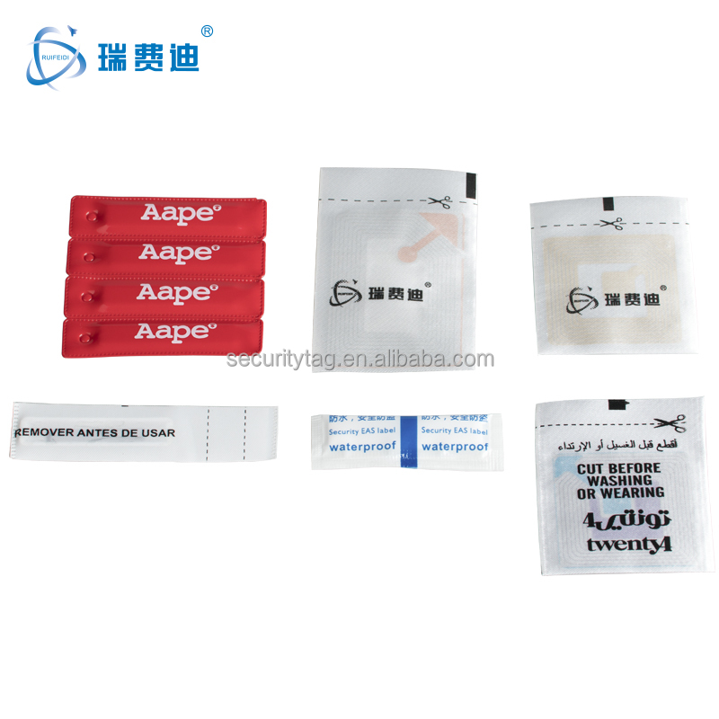 clothing labels woven RF EAS Soft Label, 8.2 MHZ Checkpoint RF/AM EAS sticker for cloth