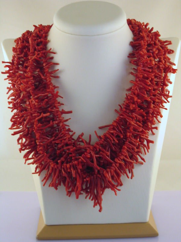 Natural Red Italian Coral - long branches