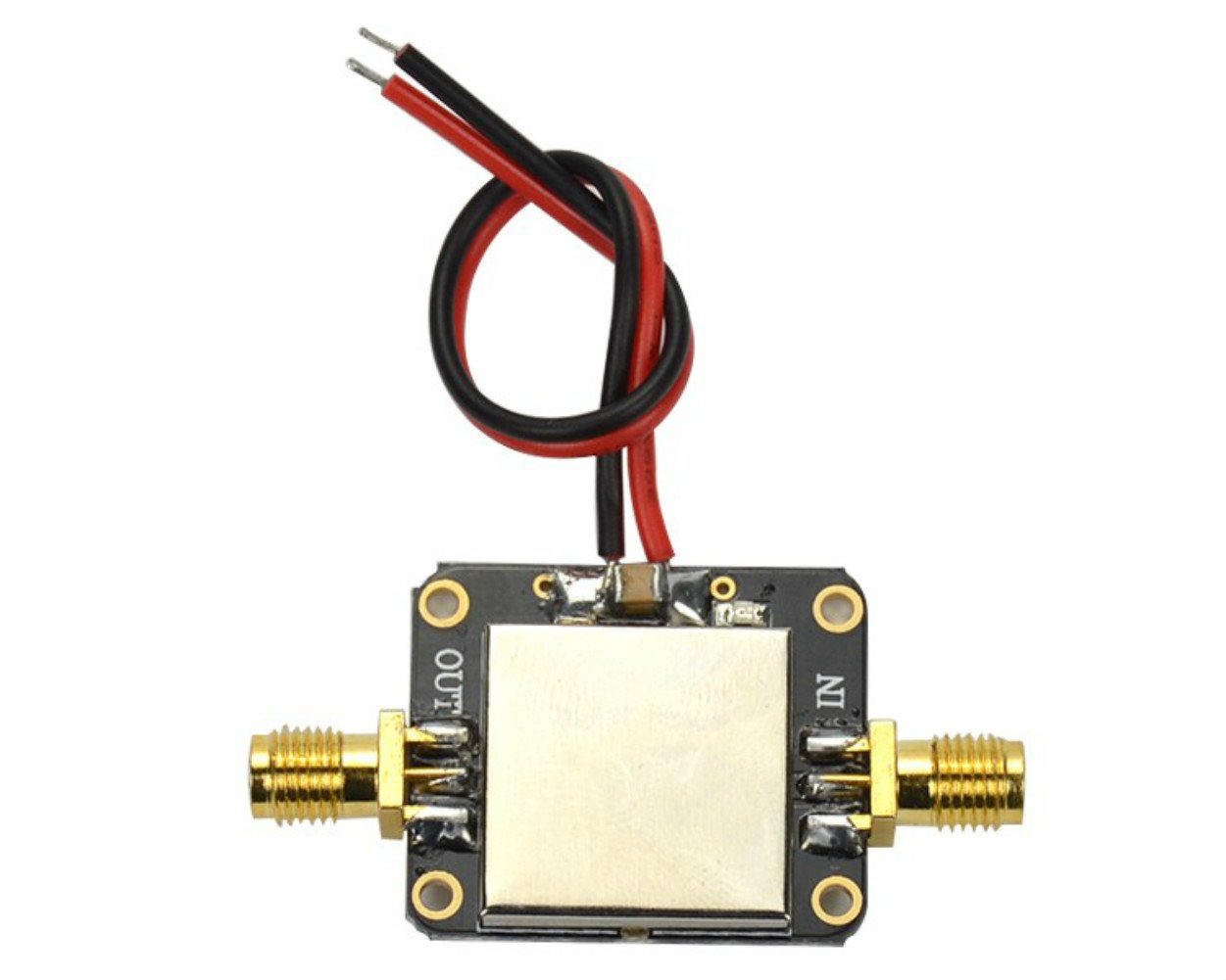 AOSHIKE DC 12V 0.01-2000MHz 2GHz LNA Broadband RF Low Noise Amplifier Module VHF/UHF Gain 32dB AMP board