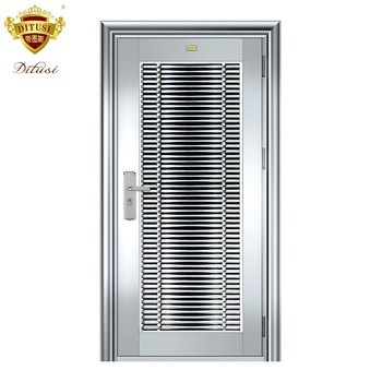House Main Gates Stainless Steel Single Door Security Door Jh605 Buy Stainless Steel Door Design Security Door Double Gates Product On Alibaba Com