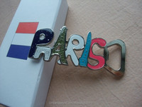 custom epoxy resin metal paris souvenir fridge magnet
