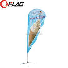 Aluminum pole beachflag, feather flag, teardrop flag different sizes different shapes