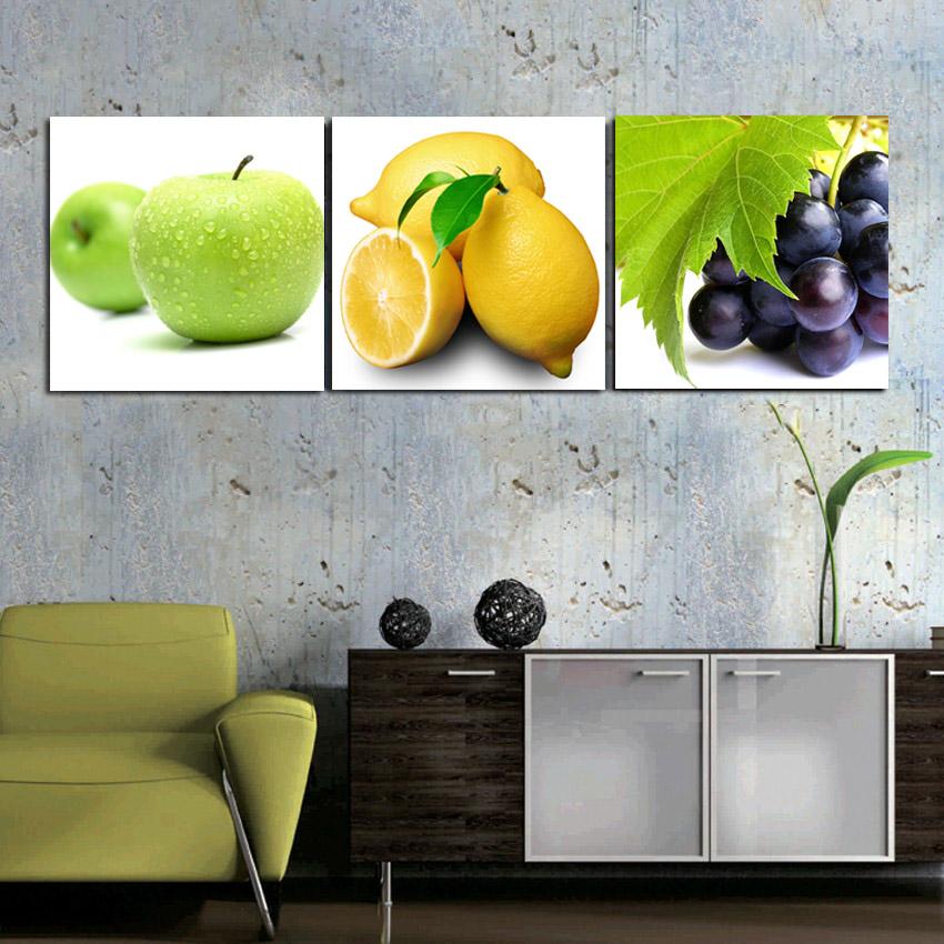 Buy 3 panels kitchen fruit decorative - Kitchen curtains with fruit design ...