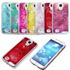 Transparent Dynamic Liquid Glitter Color Paillette Sand Quicksand Star Back Cover Case for Samsung Galaxy S4 i9500 Phone Cases
