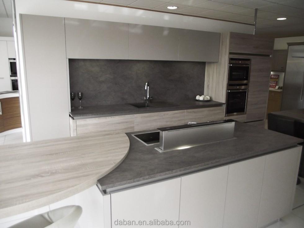 hochglanz Küchen laminat arbeitsplatte und glas Frühstück