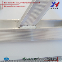 China machinery factory produce TIG welding product/ Aluminum profile extrusion/Precision shelf supports