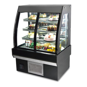 hot sell glass front open cake display fridge refridgeration Curve Glass Bakery Display/Cake