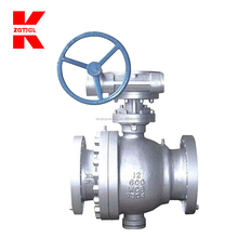Manually operated 4 inch ball valve.
