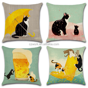 Cute cats picasso Pattern 45*45cm linen cotton comfort cushion covers