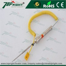 hot-selling k type hand-held thermocouple with mini yellow connector from China supplier- topright industry