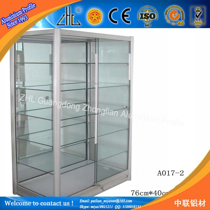 2015 Fashional Portable Wheel Display Cabinets/exhibition Aluminum ...