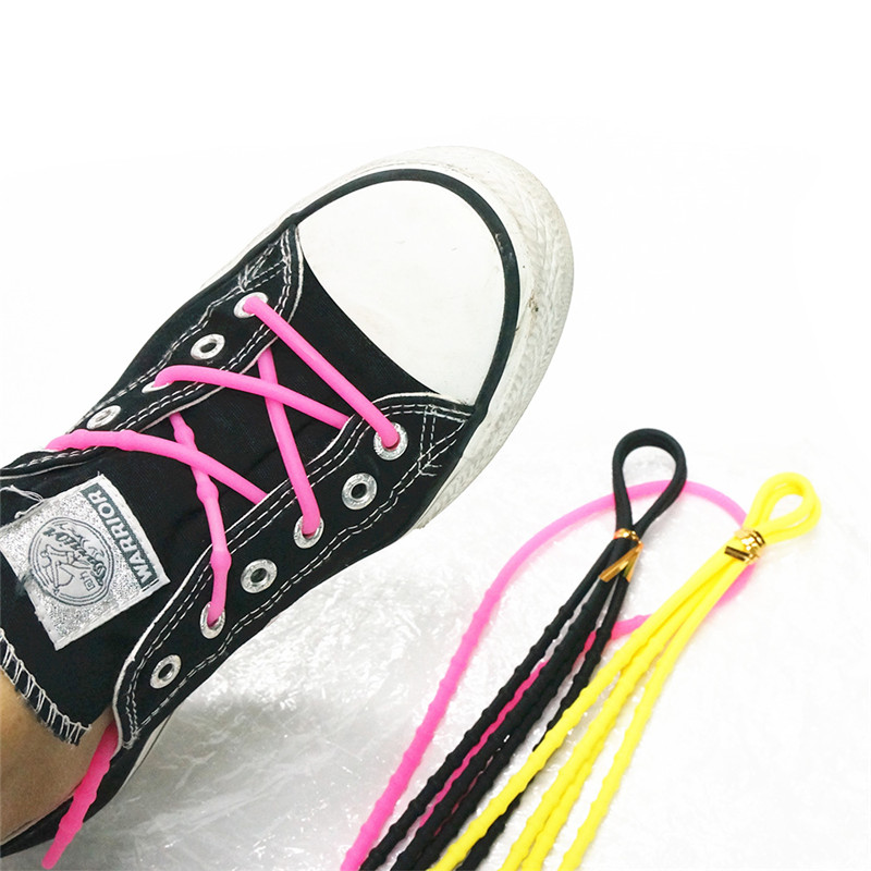 2018 New style Wholesale Silicone no tie shoelace