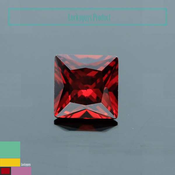 Facets Gems Top Selling Gemstone Rough Square Princess Cut Red Garnet Cubic Zirconia