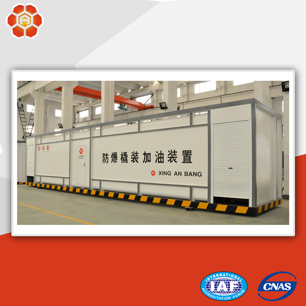 Skid mounted fuel station mobile diesel gasoline station tanks