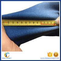 4 way stretch fake denim fabric organic