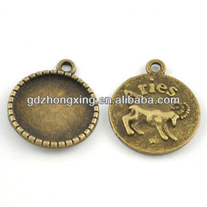 A22798, Zinc-alloy charm for bracelet & necklace, manufactory jewelry fitting China