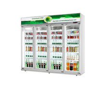 4 Doors Commercial Refrigerator upright cooler /freezer/display cabinet
