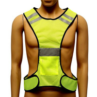 night running reflective safety vest hi vis vest sports clothing mesh fabric