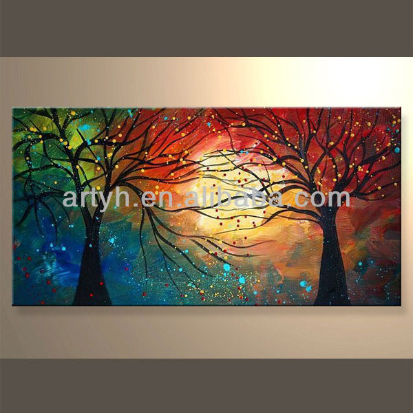 Wholesale Handmade Beautiful Abstract Landscape Painting