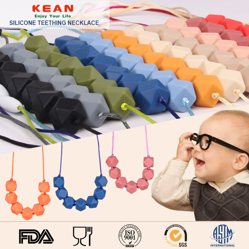 jewelery/baby teething necklace/chewing necklace/silicone jewelry