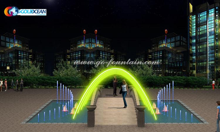 FREE DESIGN Amusement Park Garden Outdoor Floor Jumping Jet Water Fountain