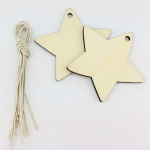 wholesale wood star hanging for xmas tree indoor decoration