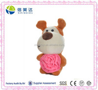 Plush Valentine's Day Gift Dog soft toy with rose