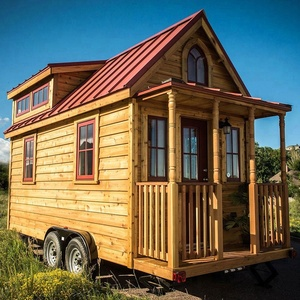 Log home of latvia prefabricated green tiny on wheels container mobile  cabins caravan prefab trailer houses kits