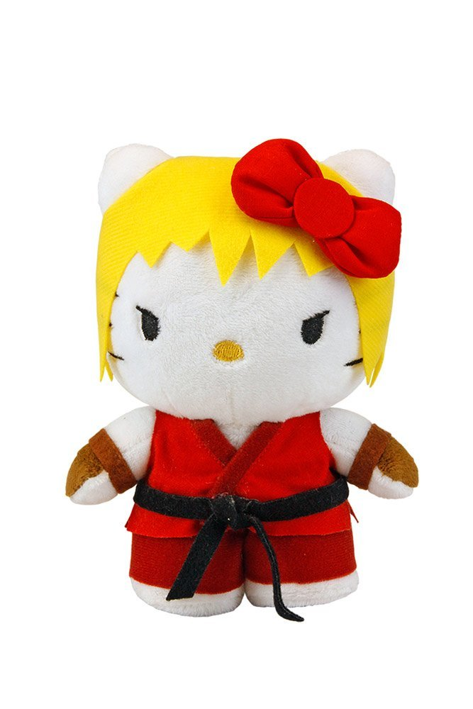 Toynami Street Fighter X Sanrio Ken Hello Kitty Plush, 6""