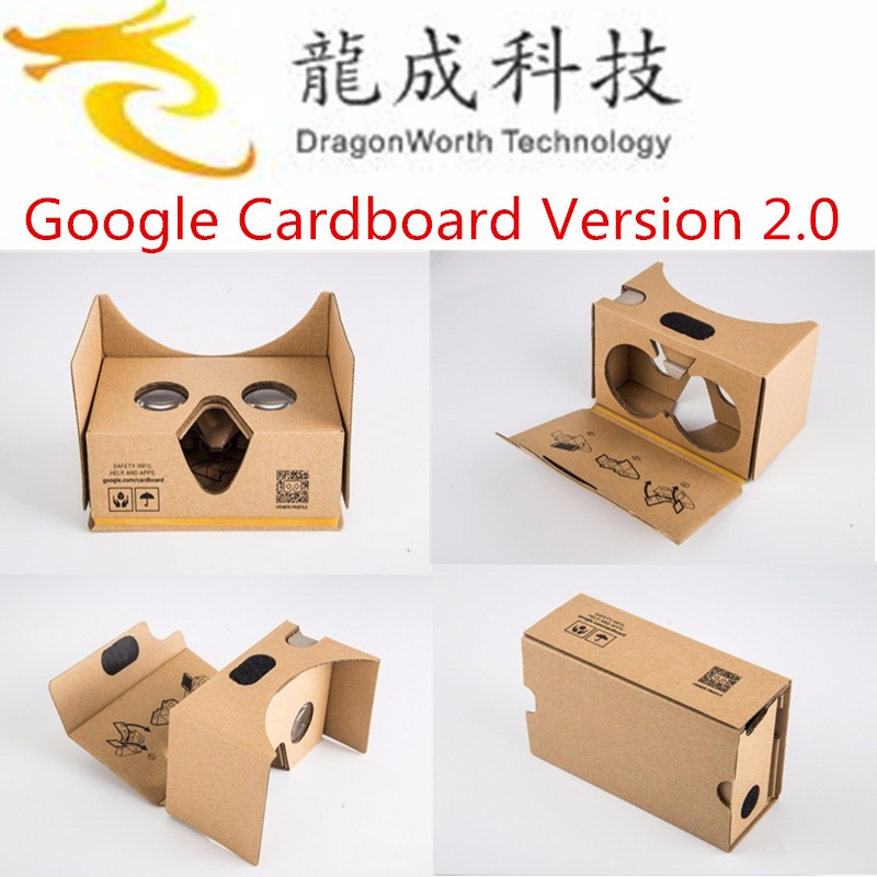 "Dragonworth new Google Cardboard 2 2.0 Virtual Reality VR 3D Glasses toolkit for 3.5 - 6"" Smartphone Escrow"