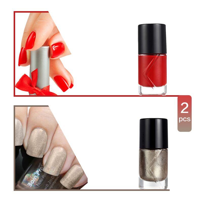 2pcs KanS 11ML Makeup Waterproof Long last Fashion Art Polish No Smell Quickly Dry Nail Lacquer