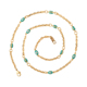 N-21 xuping copper latest fashion new model 18K chain light weight Minimalist steel Disc opal blue turkish eye jewelry