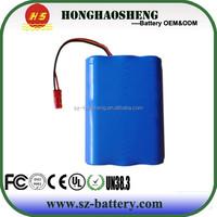 High quality 3s1p 18650 11.1v 5200mah li-ion battery pack for RC Toys