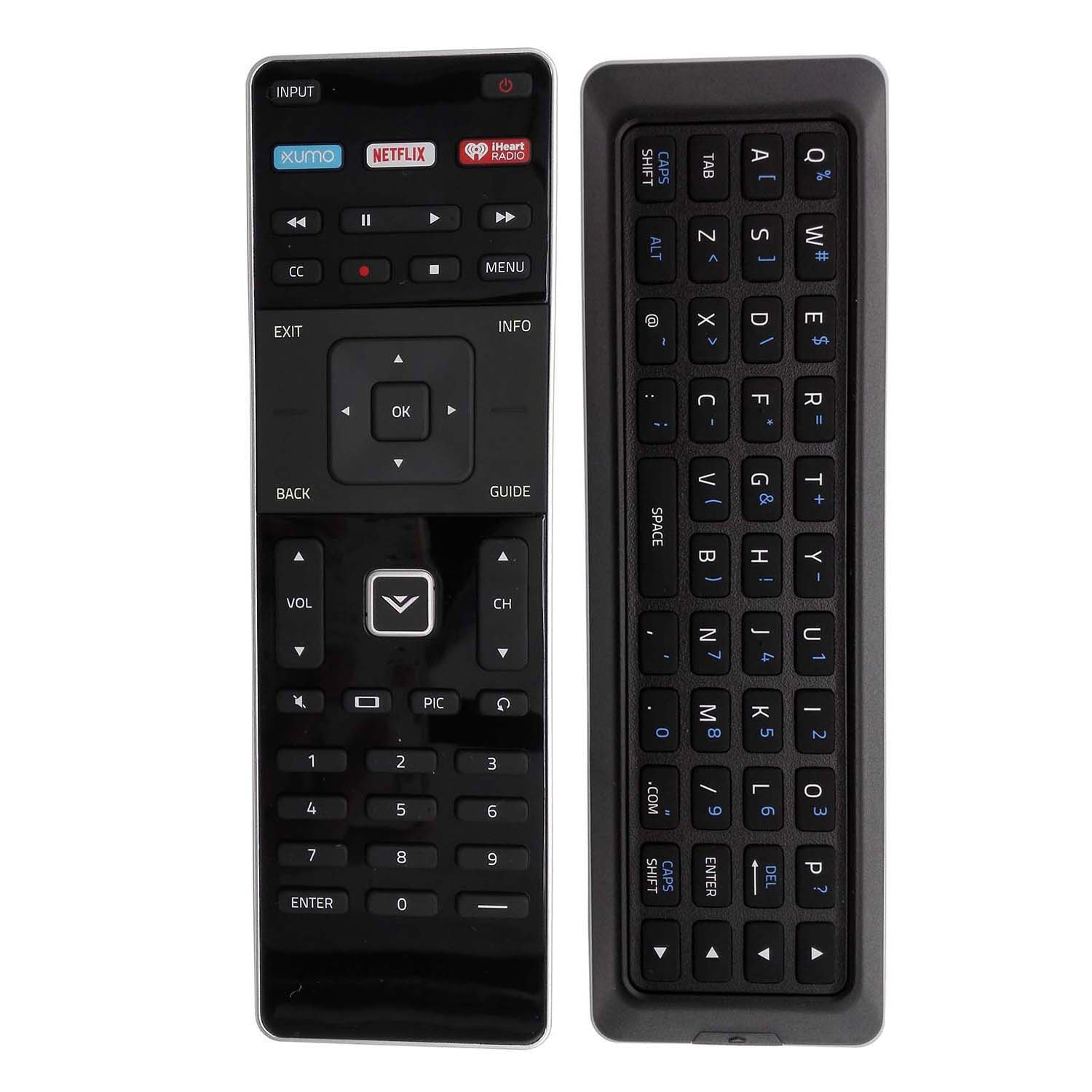 New XUMO XRT500 TV Remote with Keyboard for Vizio TV M43-C1 M49-C1 M50-C1 M55-C2 M60-C3 M65-C1 M70-C3 M75-C1 M80-C3 M322I-B1 M422I-B1 M492I-B2 M502I-B1 M552I-B2 M602I-B3