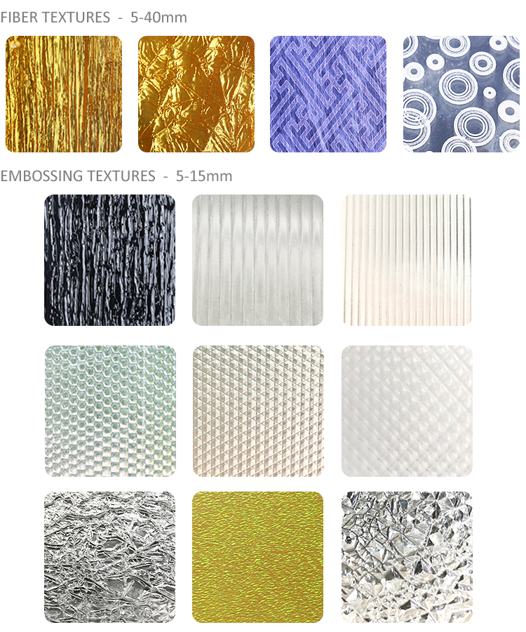 Embossed Plexiglass Screen Panels Decorative Wall Texture