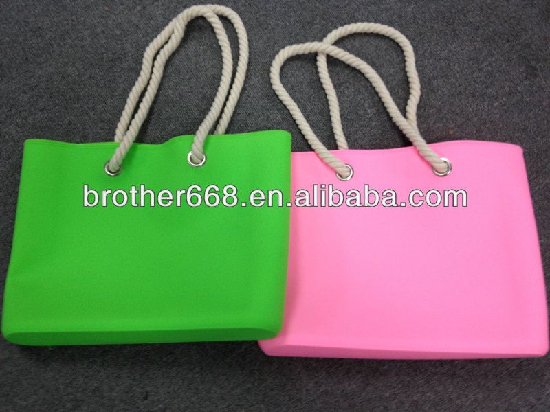 Hot new style , shoulder silicone handbag.silicone beach bag