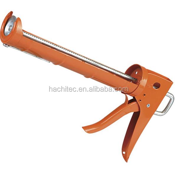 Qinlorgo Outil de calfeutrage Pistolet /à calfeutrer en Silicone pour Tube daluminium 1Pc 600Ml Outil de calfeutrage avec 10 Buses