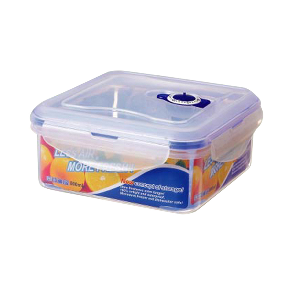 800ml Four Side Lock Food Storage Container With Date Dial Gl9204