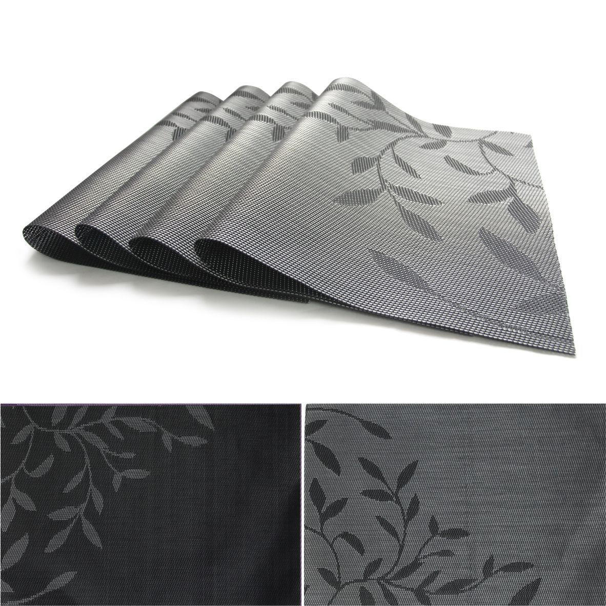 Factory Modern Style Heat Resistant Printed PVC Restaurant Table Placemats